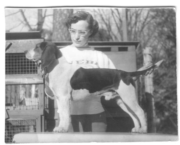 Photographic evidence that my love of hounds is genetic