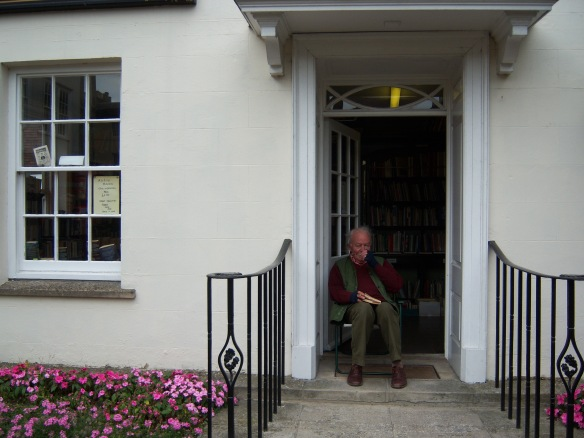 Mr. McGregor at his second-hand bookshop, d'Arcy Books