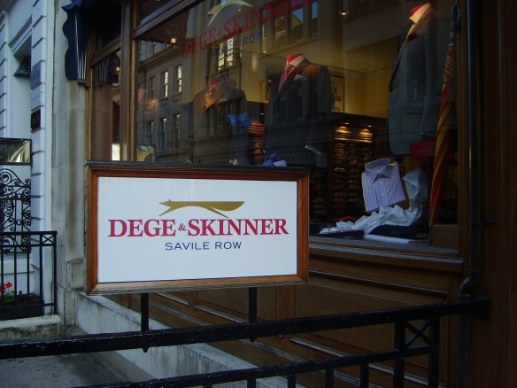 Dege and Skinner's shopfront on Savile Row