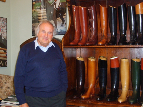 Rudolf Schneider is the third generation of Schneiders to run the custom bootmaking business. His clients include foxhunters, polo polayers, and the Household Cavalry.