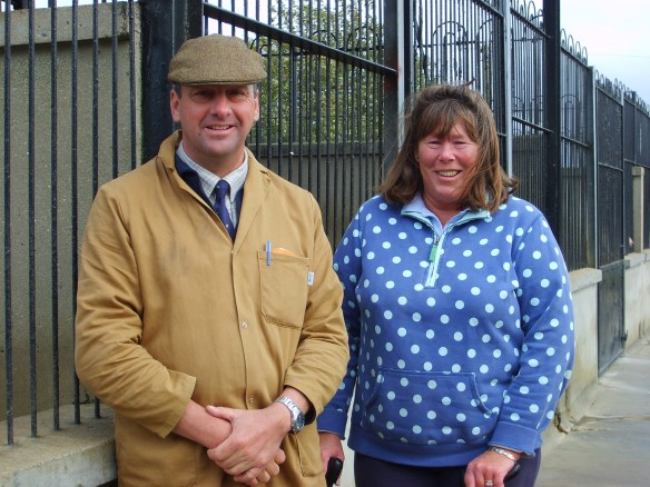 Huntsman Chris Amatt and MFH Anne Fenwick at the kennels