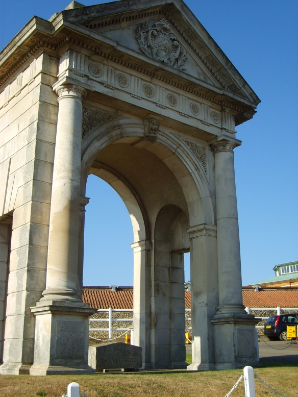 The ornate Tattersalls arch once formed the entrance to the auction house's Knightsbridge location in the late 1800s.