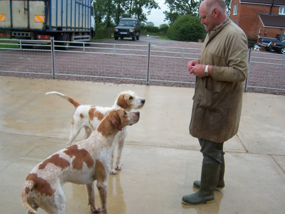 Neil Coleman with hounds