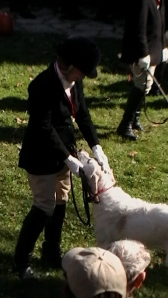 Whipper-in E. Playforth with hound IHC Blessing 2009